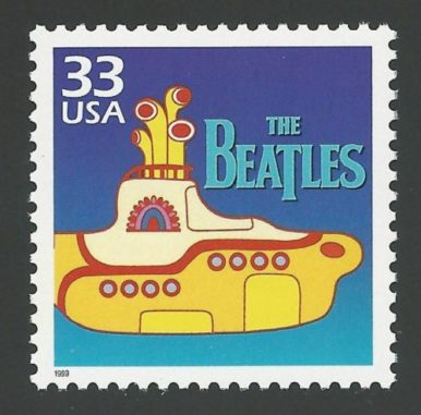 1999 FRANCOBOLLO USA BEATLES YELLOW SUBMARINE